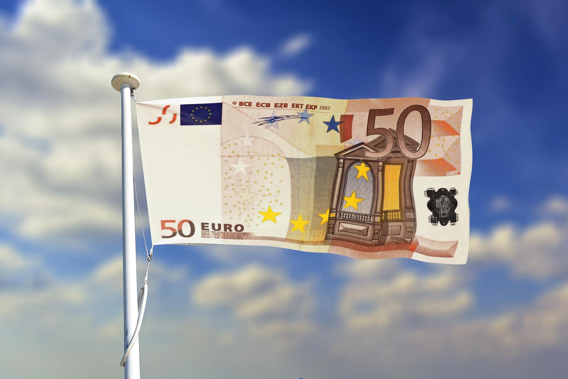 Vlag geld Europa